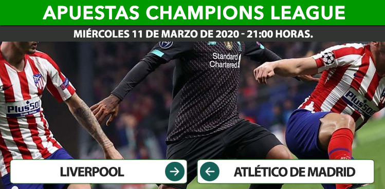 Apuestas Liverpool Atlético Madrid | Champions League.